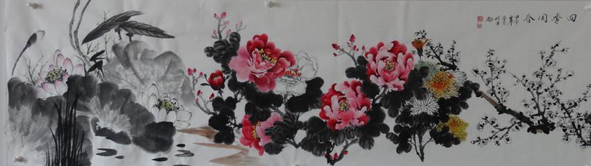 【中国画都网】推荐中央美术学院研究生一级画师蓝墨斋艺术工作室季坊作品